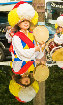 Korea update woman w drum