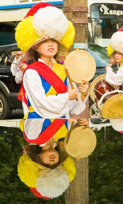 Korea update woman w drum