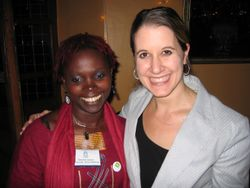 Molly with Marieme Jamme, Africa Gathering Organizer